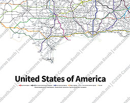 Zoomable Map Highways Of The USA - Zoomable us map