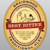 Braidwood Traditional Ales: Best Bitter label