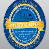 Braidwood Traditional Ales: Old Doc label