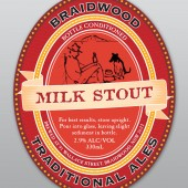 Braidwood Traditional Ales: Milk Stout label