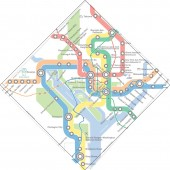 Geographically accurate routes overlaid on current WMATA map