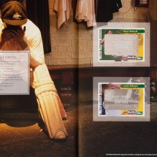 "Cricket Album: ""Baggy Green"" spread"
