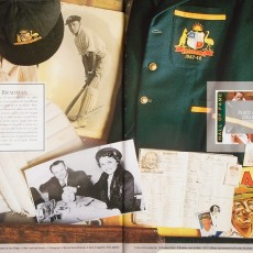 Cricket Album: Sir Donald Bradman spread