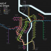 Portland Unified Rail Map Showing Lines Under Construction