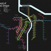 Portland Unified Rail Map, September 2012