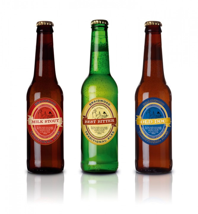 Braidwood Traditional Ales: bottles