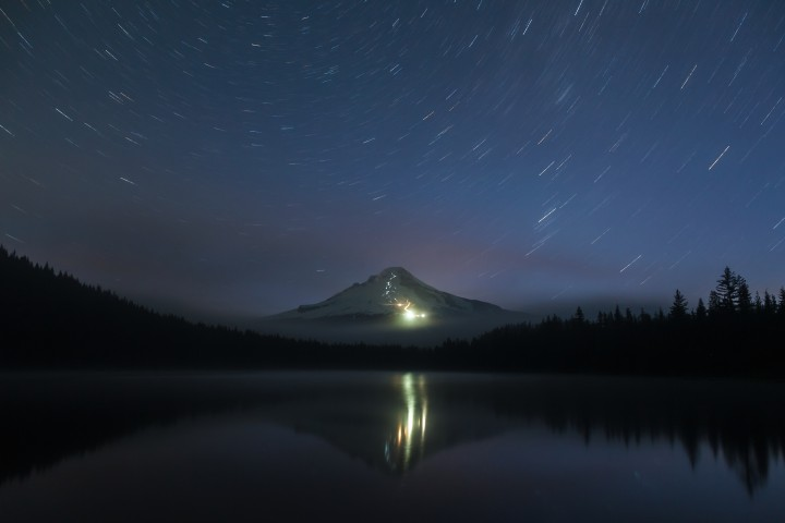 Lights on Mount Hood